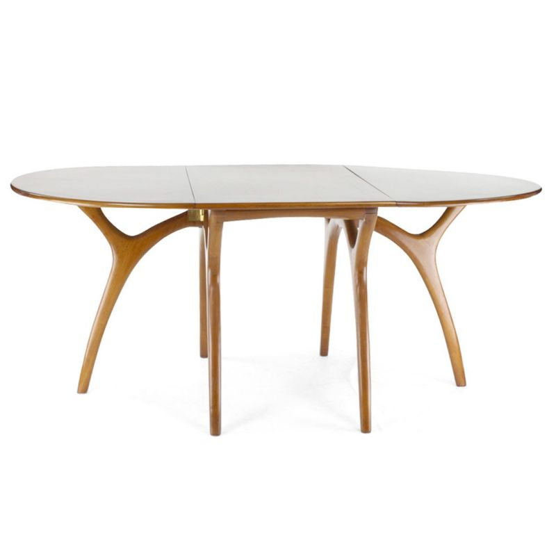 Table de salle manger pliante ovale lund saulaie for Table de salle a manger pliante console