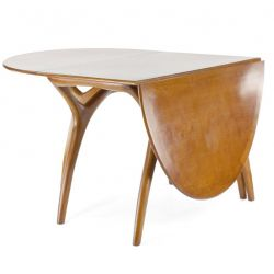 Oval wooden folding table - Lund