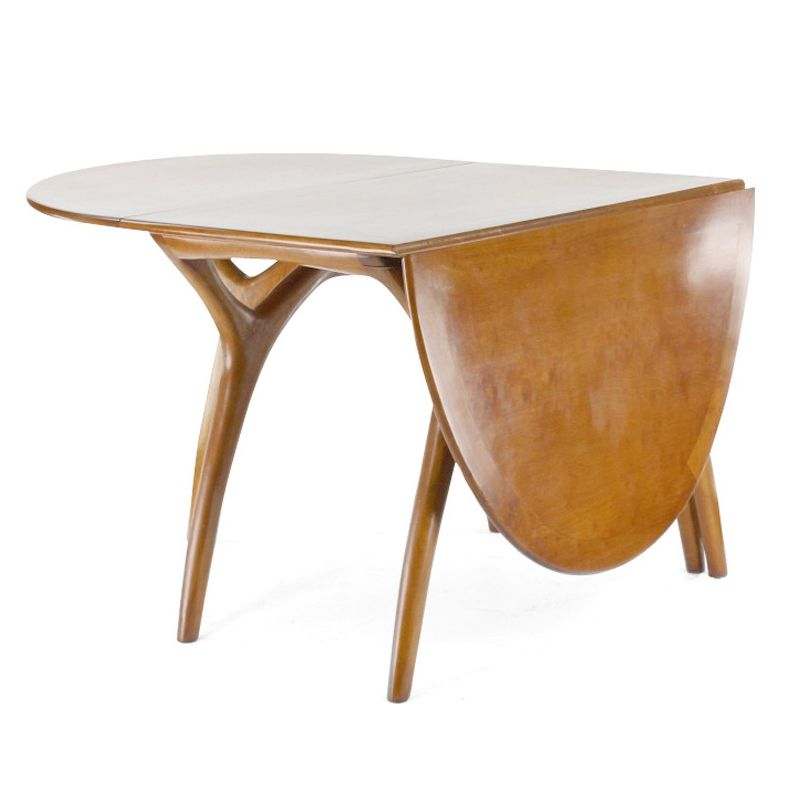 Table de salle manger pliante ovale lund saulaie for Salle a manger table ovale