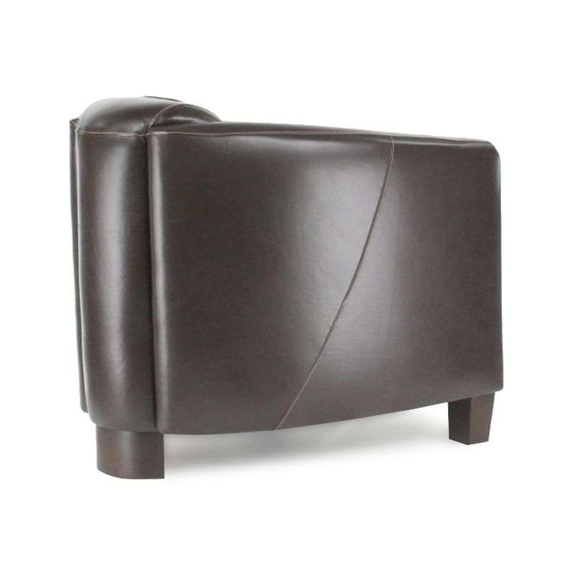 Brown Leather Club Chair - Opéra Sport