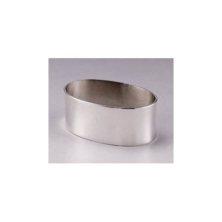 Smooth oval serviette ring