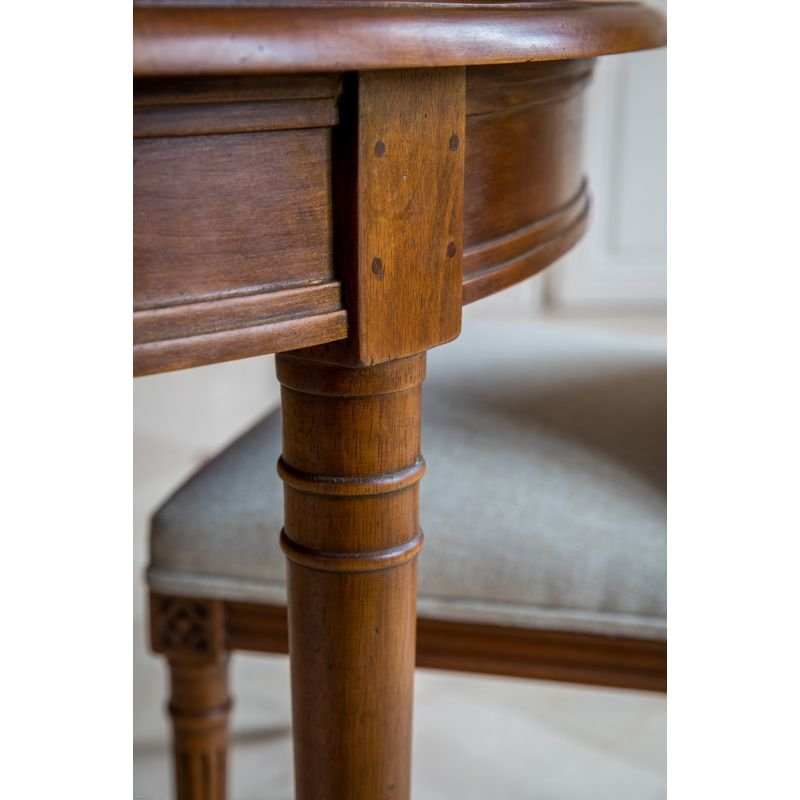 Table with apron rail Louis XVI + 4 extensions
