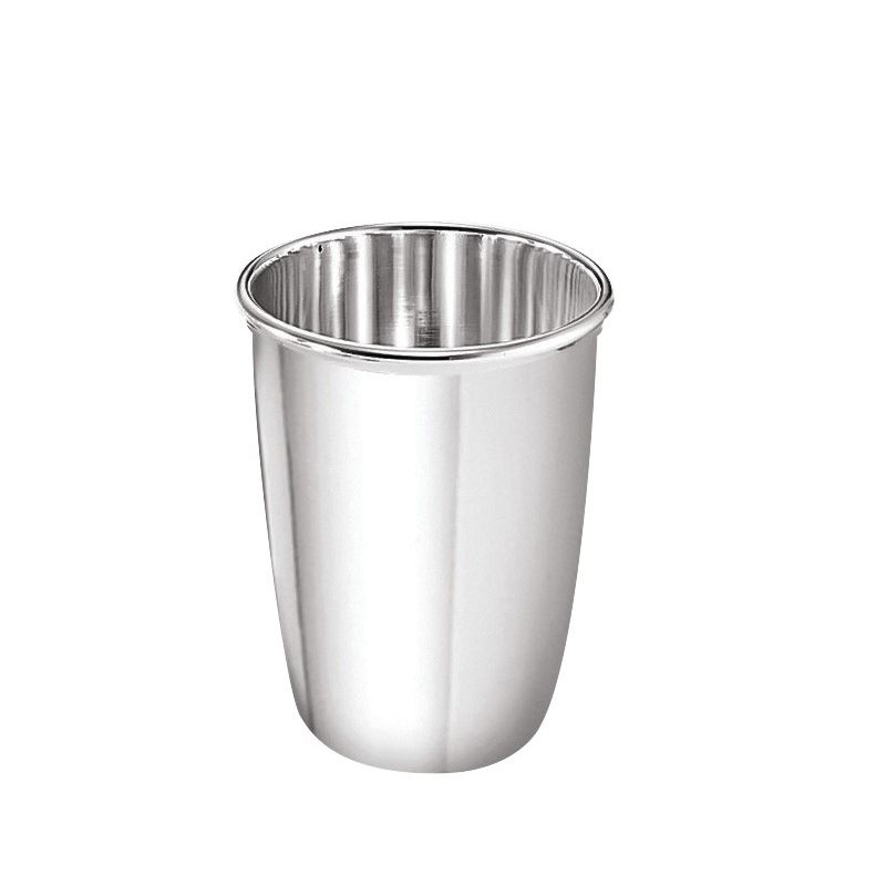 Smooth Silver Metal Cup