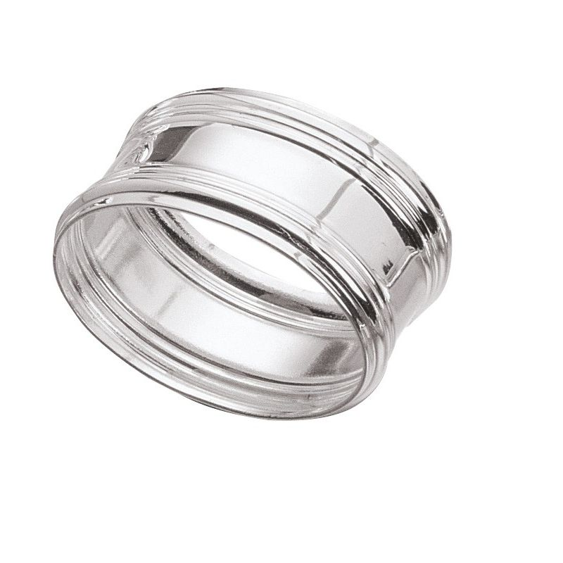 Oval silver-plated serviette ring