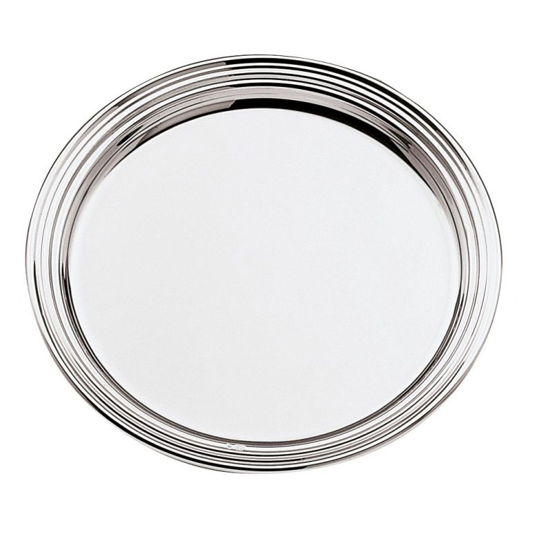 Silver-plated decanter coasters - Filet