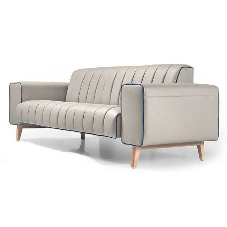 Canap contemporain saulaie for Canape leather sofa