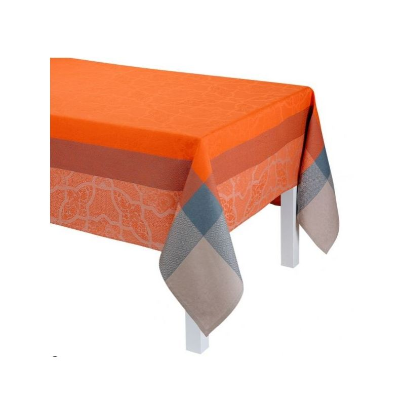 nappe carr e en lin pondichery orange saulaie. Black Bedroom Furniture Sets. Home Design Ideas