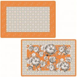 Set de table d'extérieur rectangulaire orange