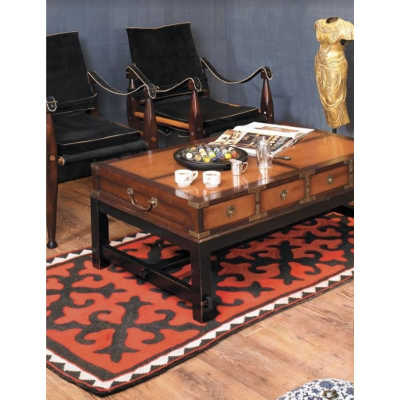 Rectangular coffee table in solid wood - Nelson