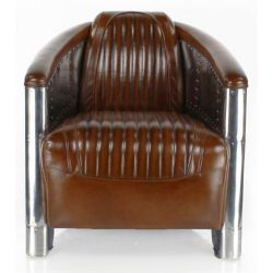 Vintage Chestnut Club Armchair - Aviator
