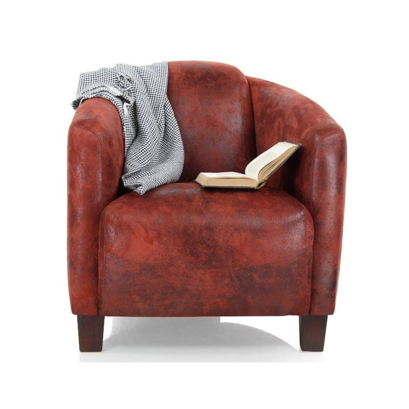 Red Fabric Club Armchair Opéra