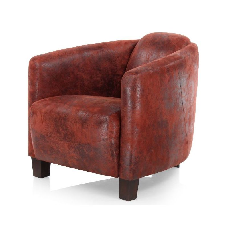 fauteuil club tissu rouge op ra saulaie. Black Bedroom Furniture Sets. Home Design Ideas