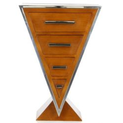 Solid Wood Designer Chest of Drawers, small - Delta