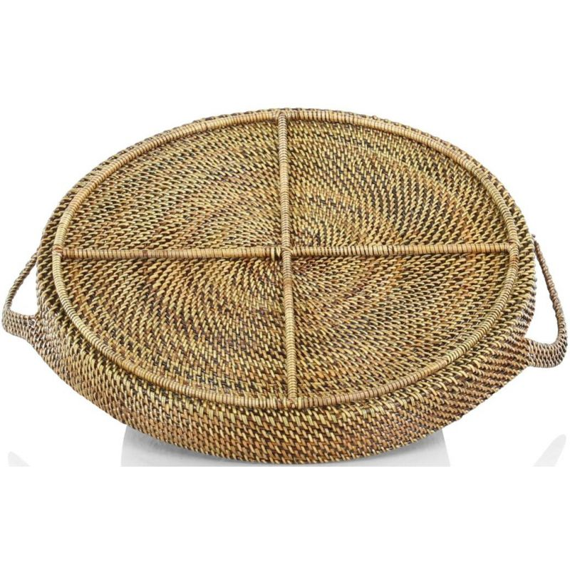 Reinforced tray in water vine, large - Marie Galante
