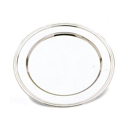 Round plate English style in silver-plating
