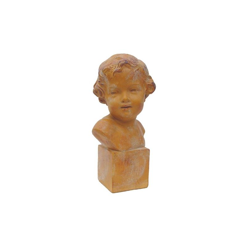 Bust Beatrice brown patina finish
