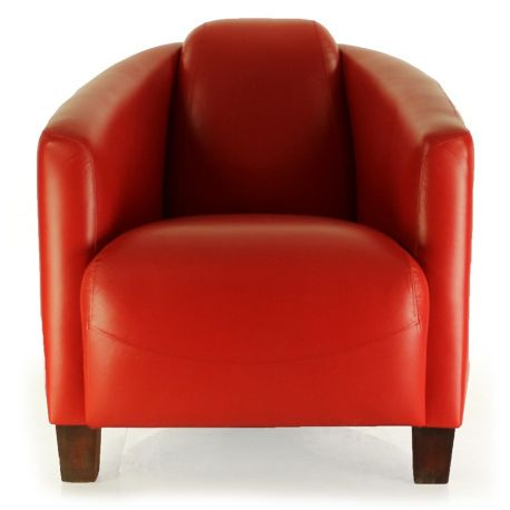 Fauteuil club cuir rouge - Opéra