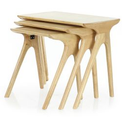 Tables d appoint scandinave bois naturel - Lund