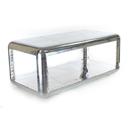 Table basse rectangle alu - Baron