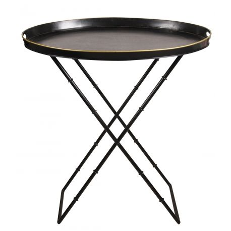 Table d appoint ovale pieds rectangulaires - Vatel