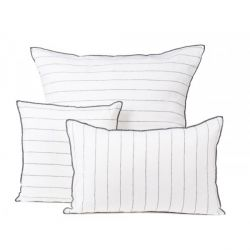 Coussin Augusta 100% lin blanc