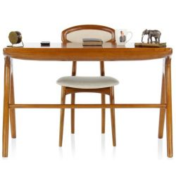 Grand bureau design bois massif 115cm - Lund
