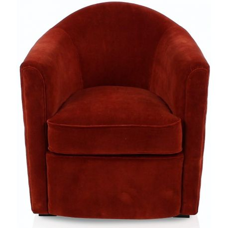 fauteuil club velours rouge fumoir saulaie. Black Bedroom Furniture Sets. Home Design Ideas