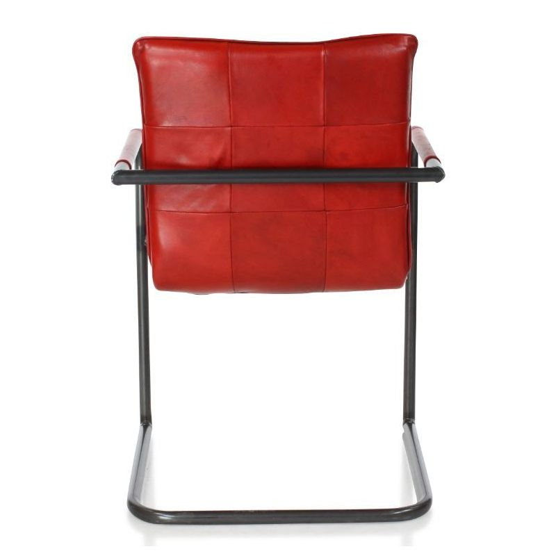 Fauteuil design cuir rouge - Hector