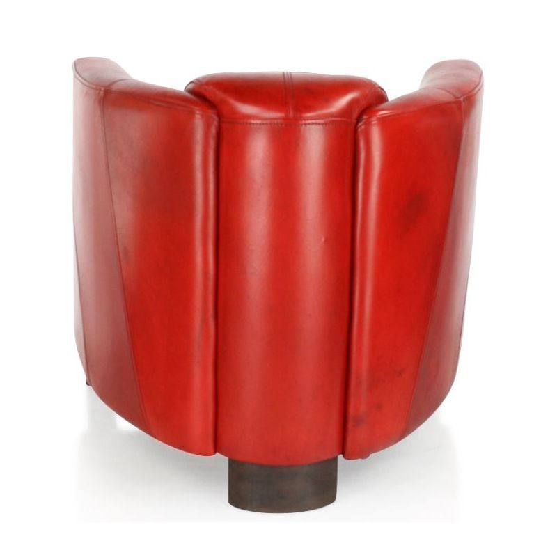 Fauteuil club cuir rouge - Orsay