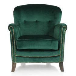 Fauteuil club velours vert sapin - Middletown