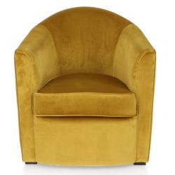 Fauteuil club velours gold - Fumoir