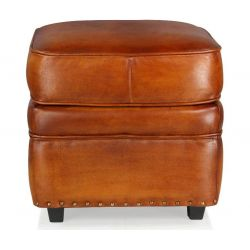 Pouf cuir marron clair - Middletown
