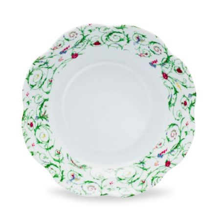 Assiette porcelaine creuse lot de 6 - Nymphéa colibri