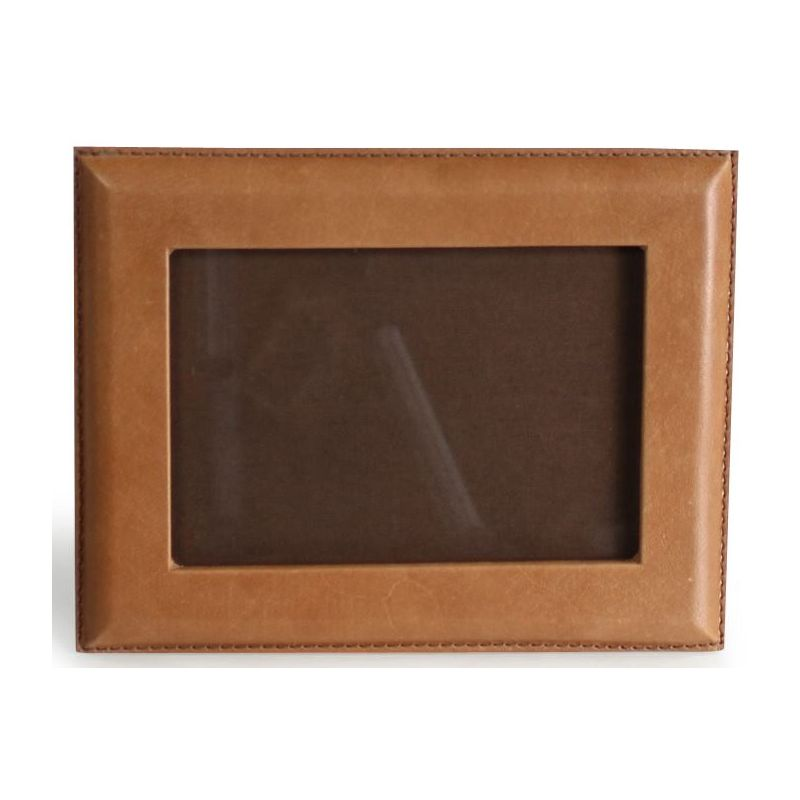 Cadre photo rectangulaire en cuir naturel - Ravel